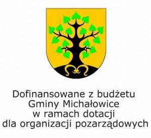 Logo Gminy i tekst dofinansowania
